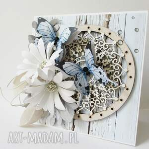 beżowe scrapbooking kartki życzenia z życzeniami - w pudełku