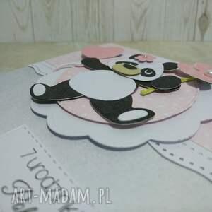 scrapbooking kartki panda zaproszenie / karta z