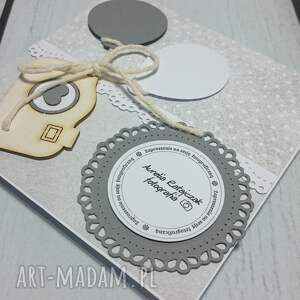 scrapbooking kartki sesja zaproszenie/ karta szary aparat