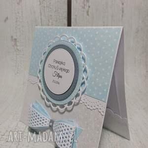 białe scrapbooking kartki urodziny zaproszenie / karta z kokardą