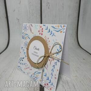 niebieskie scrapbooking kartki zaproszenie / kartka minimalna