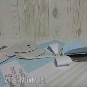 urokliwe scrapbooking kartki chrzest zaproszenie / kartka błękitny balon