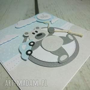 szare scrapbooking kartki chrzest kartka wykonana z największą starannością i
