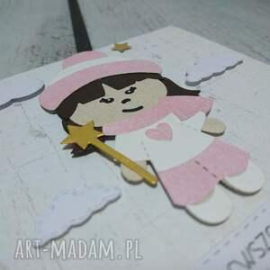 różowe scrapbooking kartki dziewczynka zaproszenie / kartka zimowa