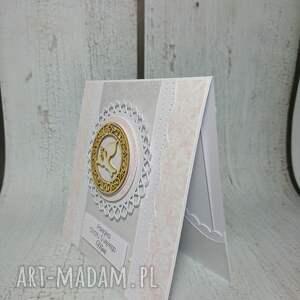 scrapbooking kartki komunia zaproszenie / kartka z