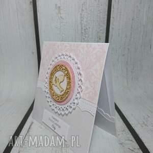 ręcznie wykonane scrapbooking kartki komunia zaproszenie / kartka hostia vs