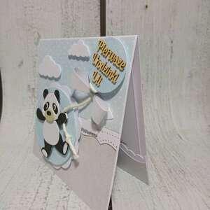atrakcyjne scrapbooking kartki panda zaproszenie / kartka