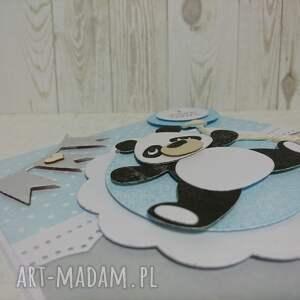 ręcznie wykonane panda zaproszenie / kartka