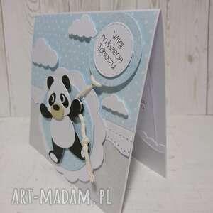 ciekawe scrapbooking kartki panda zaproszenie / kartka na