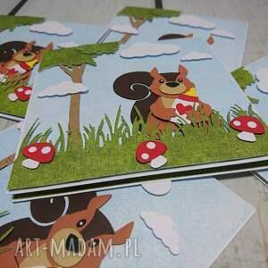 scrapbooking kartki urodziny zaproszenie / kartka z wiewiórką