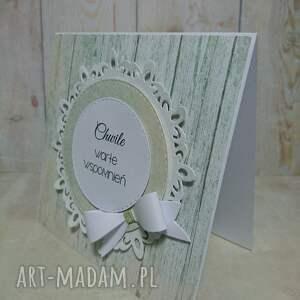 oryginalne scrapbooking kartki rocznica zaproszenie / kartka kokarddowy
