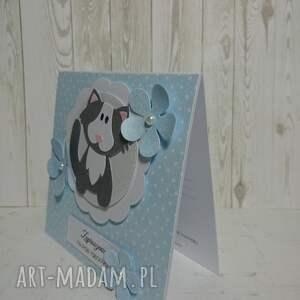 handmade scrapbooking kartki sesja zaproszenie / kartka kotek w
