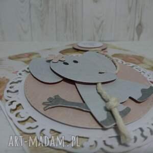 wyjątkowe scrapbooking kartki urodziny zaproszenie / kartka slonik w