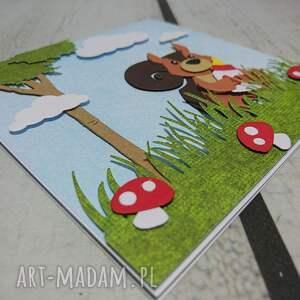 handmade scrapbooking kartki urodziny zaproszenie / kartka z wiewiórką