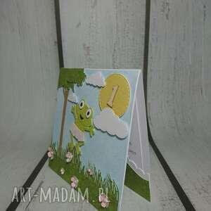 oryginalne scrapbooking kartki żaba zaproszenie / kartka żabka monika