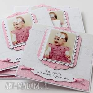 handmade scrapbooking kartki zaproszenie na roczek lub chrzest