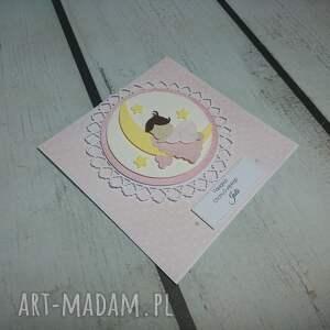 unikalne scrapbooking kartki chrzest zaprosznie / kartka aniele boży w
