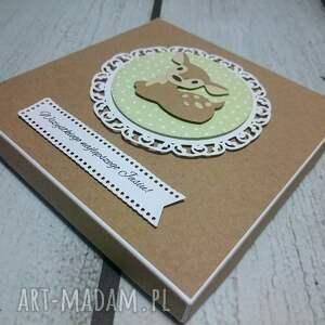 białe scrapbooking kartki las zestaw bambi z balonami