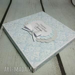 komunia scrapbooking kartki niebieskie zestaw błękitna elegancja
