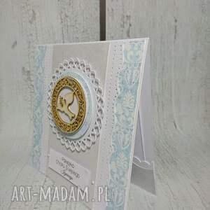 efektowne scrapbooking kartki komunia zestaw błękitna elegancja