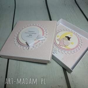 aniołek scrapbooking kartki zestaw cudny na księżycu