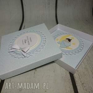 narodziny scrapbooking kartki zestaw cudny aniołek na księżycu