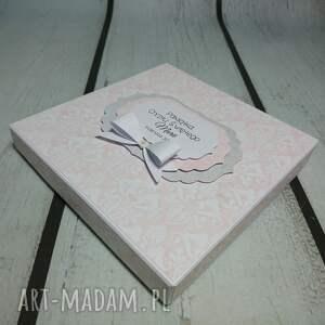 szare scrapbooking kartki komunia zestaw elegancja w różu