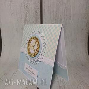 scrapbooking kartki chrzest zestaw elegancki z dużym wyborem