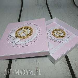 pamiątka scrapbooking kartki zestaw pudrowy róż