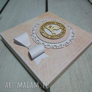słonik scrapbooking kartki beżowe zestaw w piórach