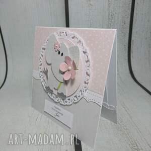 niesztampowe scrapbooking kartki chrzest zestaw słonik w kwiatach