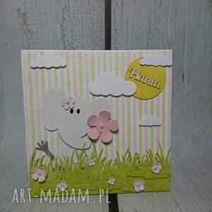 urodziny scrapbooking kartki różowe zestaw ze słonikiem na