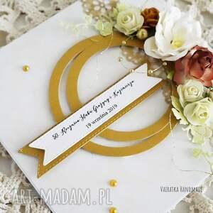 hand made złote gody - kartka