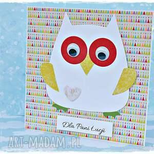 kartka scrapbooking kartki kolorowe życzenia dla nauczyciela - zestaw
