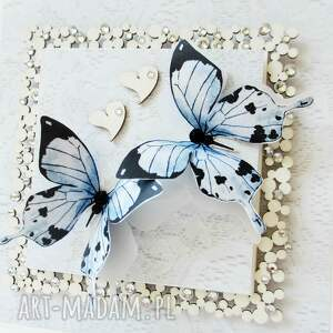 scrapbooking kartki gratulacje z motylami