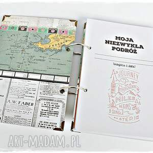 eleganckie scrapbooking notesy podróżnik twój planner podróży / album