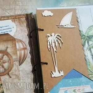 dziennik scrapbooking notesy niebieskie / pamiętnik podróży