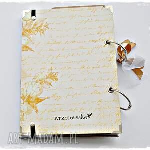 urokliwe scrapbooking notesy przepiśnik elegancki - prezent