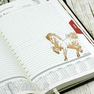 książkowy scrapbooking notesy kalendarz książowy 2018 - stajnia