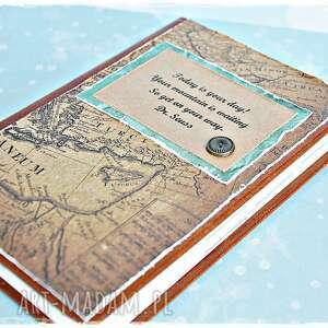 kalendarz scrapbooking notesy turkusowe podróżnika - dzień na