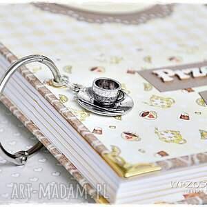 handmade scrapbooking notesy przepiśnik kawa czy herbata