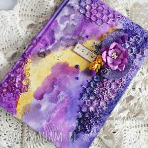 nietuzinkowe scrapbooking notesy dla-kobiety mediowy kalendarz w fioletach
