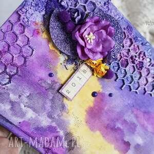 scrapbooking notesy dla-kobiety mediowy kalendarz w fioletach