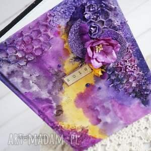 różowe scrapbooking notesy na-biurko mediowy kalendarz w fioletach