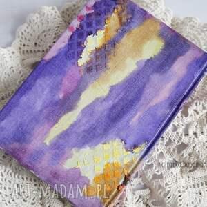 nietuzinkowe scrapbooking notesy kalendarz mediowy w fioletach