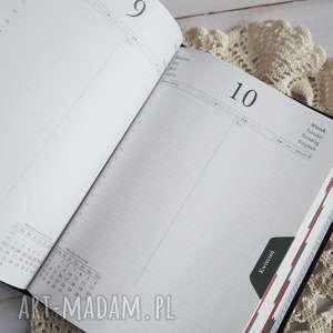kalendarz scrapbooking notesy fioletowe mediowy w fioletach