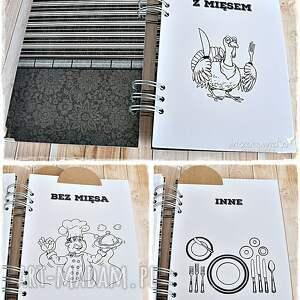 białe scrapbooking notesy przepiśnik męskie gotowanie -