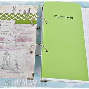 fioletowe scrapbooking notesy książka-kucharska niekończący się lawendowy
