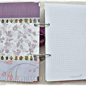 notatnik scrapbooking notesy fioletowe niekończący się