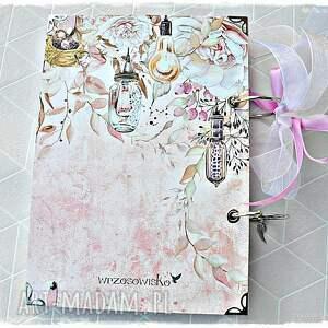beżowe scrapbooking notesy pamiętnik niekończący się notatnik